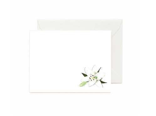 Casa Blanca Lily Flat Note Cards
