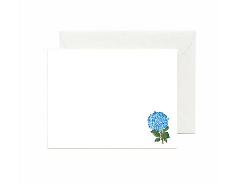 Blue Hydrangea Flat Note Cards