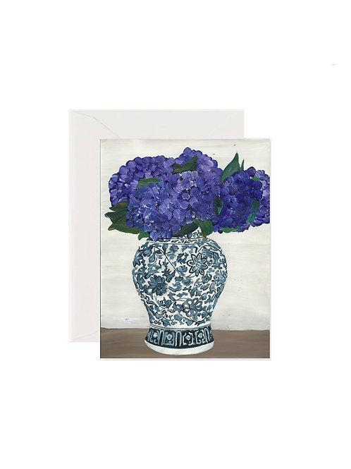 Purple Hydrangea Porcelain