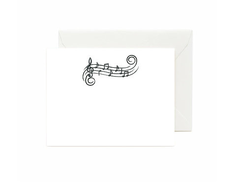 Music Notes Flat Note Cards