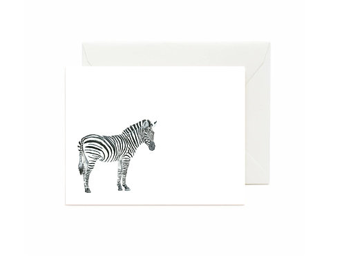 Zebra Flat Note Cards