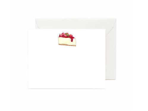 Strawberry Cheesecake Flat Note Cards