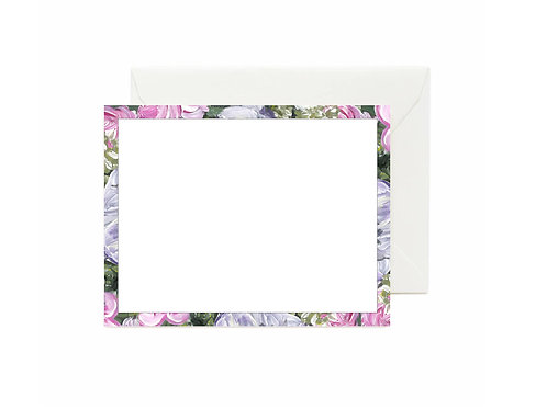 Anemone Border Flat Note Cards