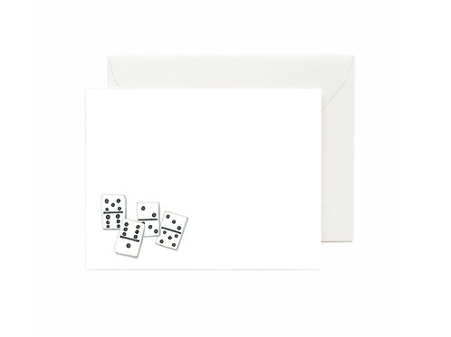 Dominoes Flat Note Cards
