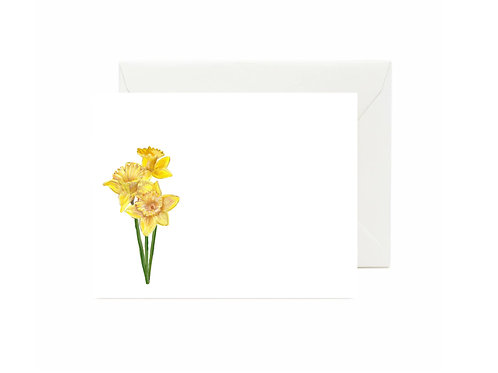 Daffodils Flat Note Cards