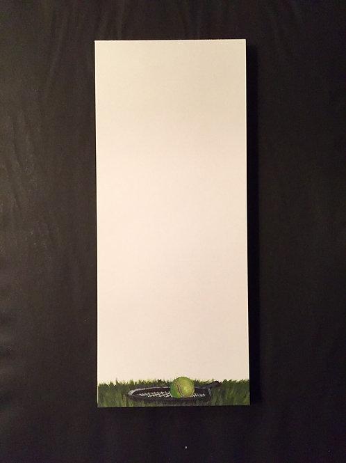 Tennis Racket Note Pad