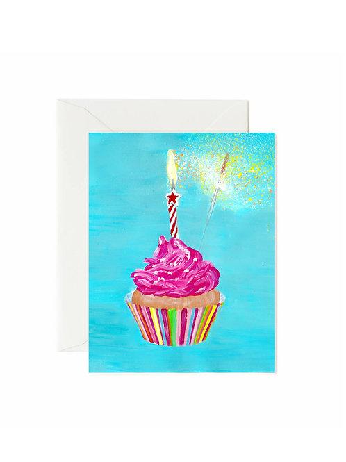 Sparkler Birthday Cupcake
