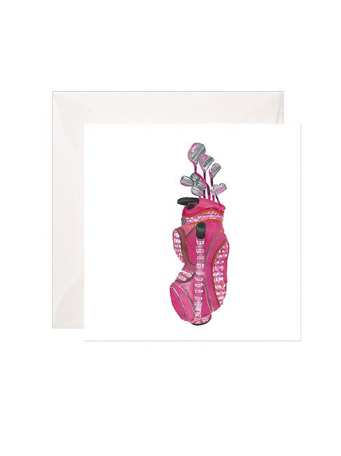 The Pink Tartan Golf Bag