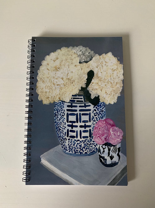 Flowering Porcelain Spiral Notebooks