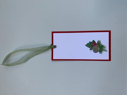 Christmas Pinecone Gift Tags