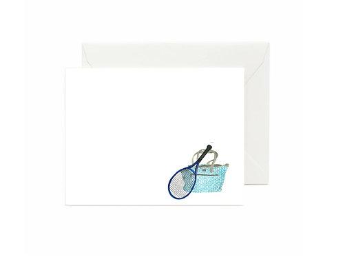 Blue Tennis Bag Flat Note Cards