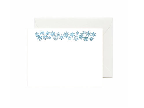 Snowflakes Flat Note Cards
