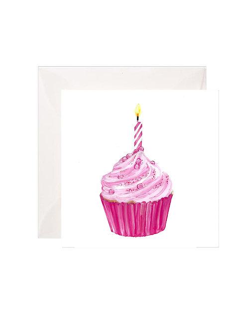 Pink Birthday Cupcake Gift Enclosures