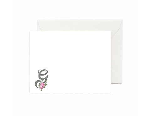 Letter G Flat Note Cards