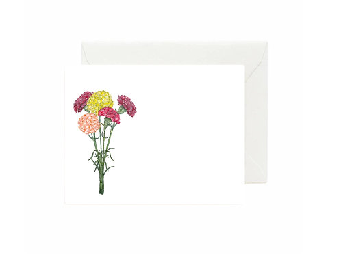 Carnations Flat Note Cards