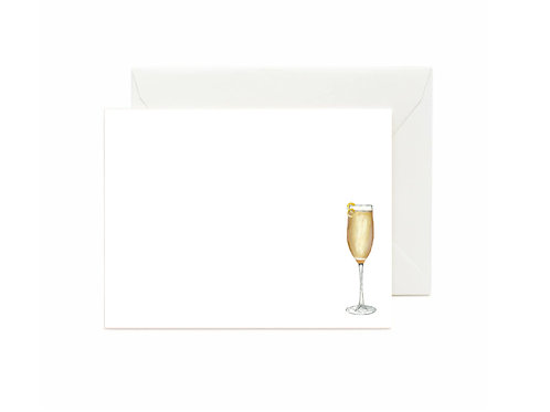 French 75 Flat Note Cards