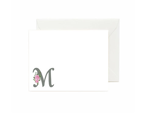 Letter M Flat Note Cards