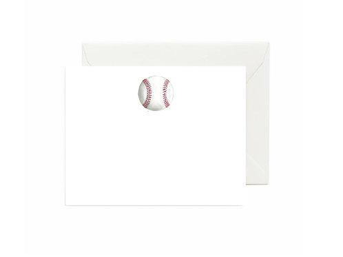 Baseball Flat Note Cards