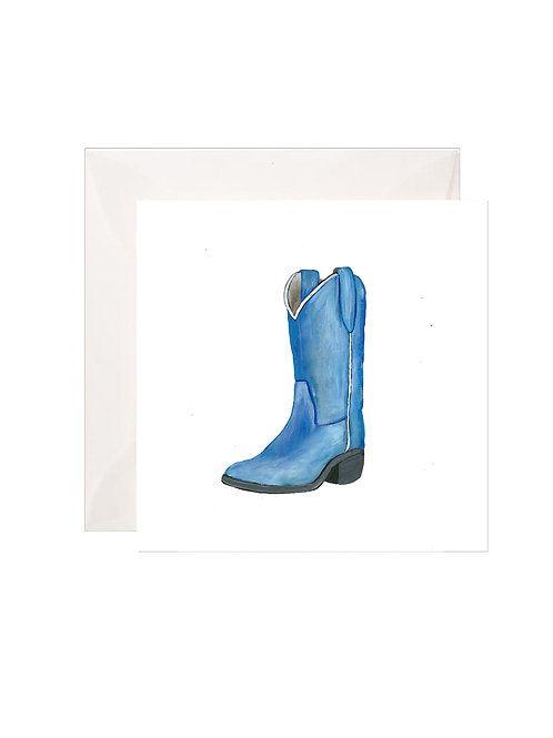 Blue Cowboy Boot Gift Enclosures