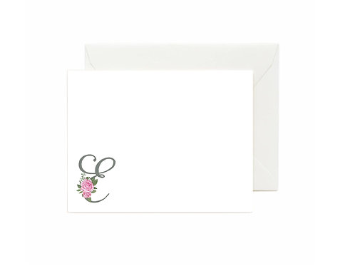 Letter E Flat Note Cards