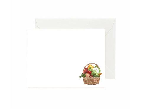 Vegetable Basket Flat Note Cards