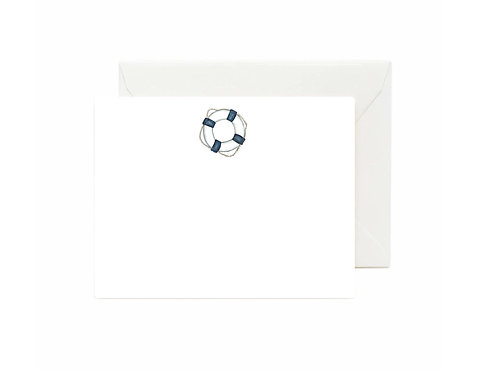 Life Buoy Ring Flat Note Cards