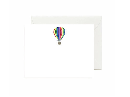 Hot Air Balloon Flat Note Cards