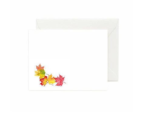 Fall Leaves Flat Note Cards