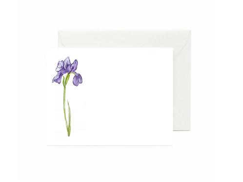 Iris Flat Note Cards