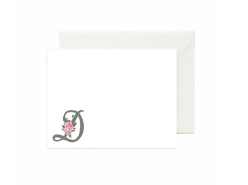 Letter D Flat Note Cards