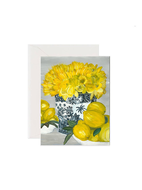 Daffodil and Yellow Porcelain