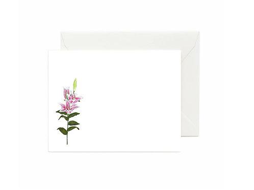 Stargazer Lily Flat Note Cards