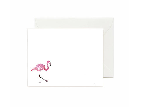 Flamingo Flat Note Cards