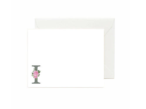 Letter I Flat Note Cards