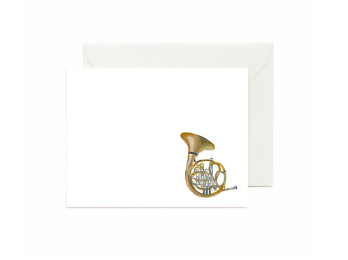 French Horn Flat Note Cards