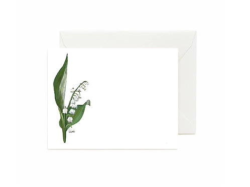 Lily of The Valley Flat Note Cards