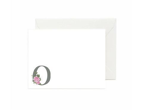 Letter O Flat Note Cards