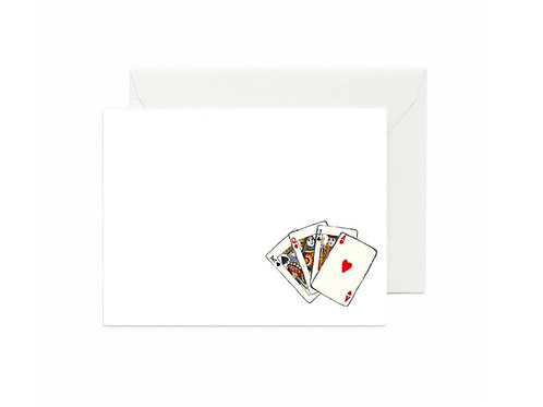 Full Hand Flat Note Cards