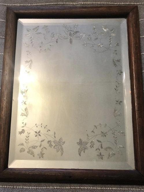 Зеркало с гравировкой (рама - дуб)