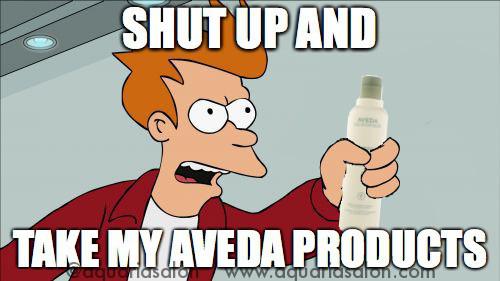 free aveda products meme