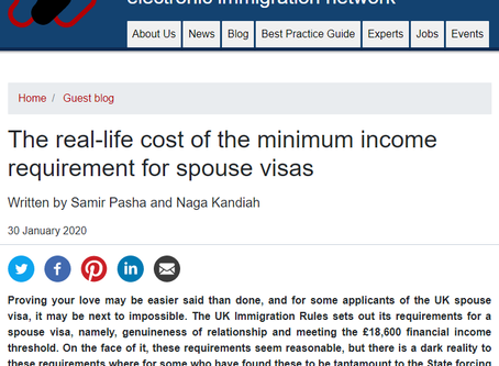 The real-life cost of the minimum income requirement for spouse visas