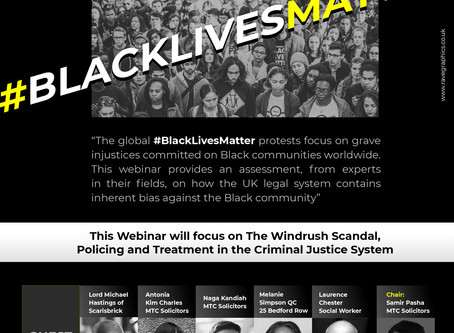 BLM and racial injustice webinar: Video available