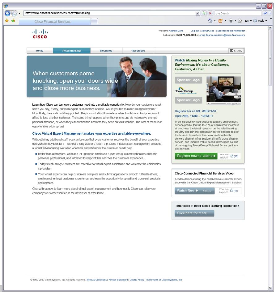 Cisco Retail Banking