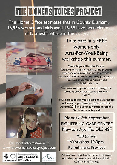 The womens voices project.  A project aiming to tell the stories of hundreds of women and their expiriences with domestic abuse based in North East England.