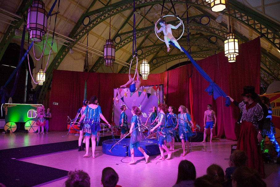 """""""Fairground of Fantastical Fishy Feats"""" - A circus theatre show based on the book """"The boy who swam with pirañas"""" written by David Almond"""