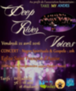 Affiche concert Take my Andes et Deep River Voices