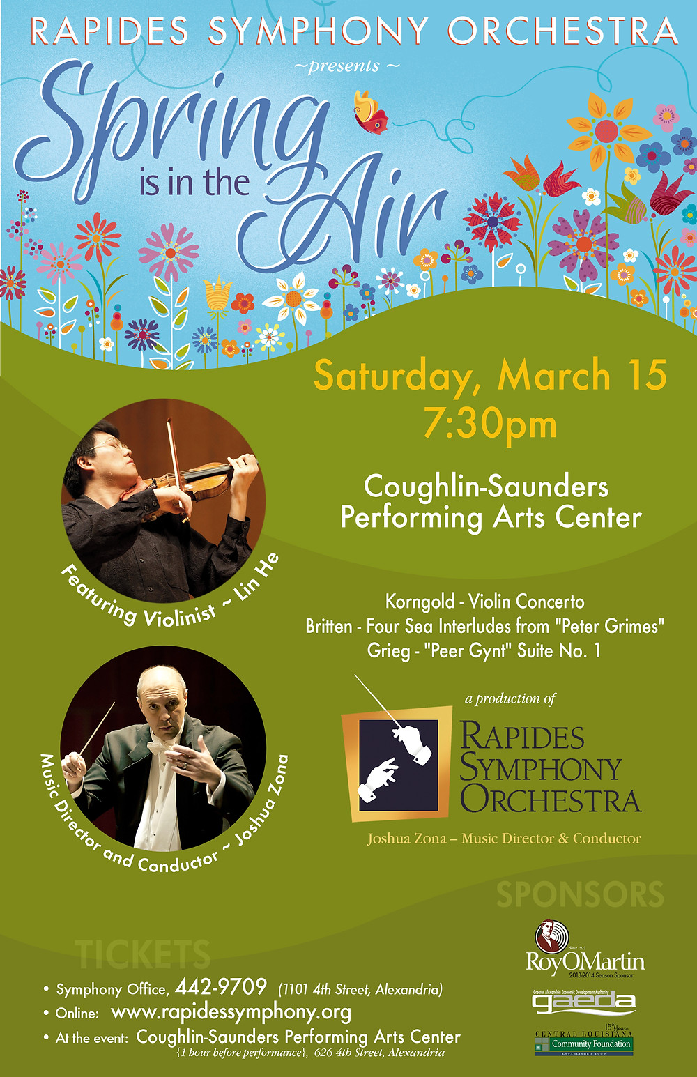 Rapides Symphony Orchestra Spring is in the Air