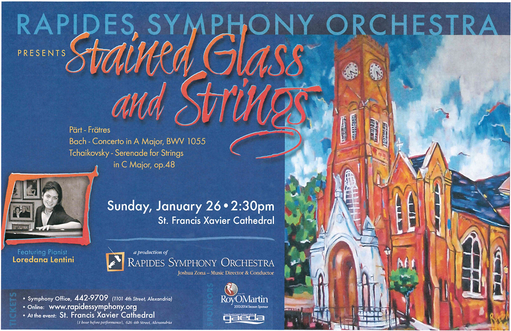 Rapides Symphony Orchestra Stained Glass and Strings
