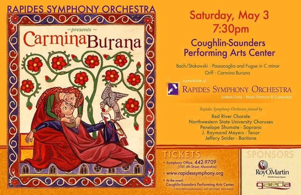 Rapides Symphony Orchestra Carmina Burana