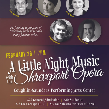 45.The Shreveport Opera to Visit Central Louisiana Schools and Give A Little Night Music Thursday